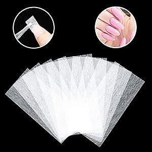 Diealles Shine 100Pcs Extensión de Uñas de Fibra de Vidrio, Fiberglass Nail Extension, Salones de Uñas Nail Extension Fiberglass para Mujeres Niñas