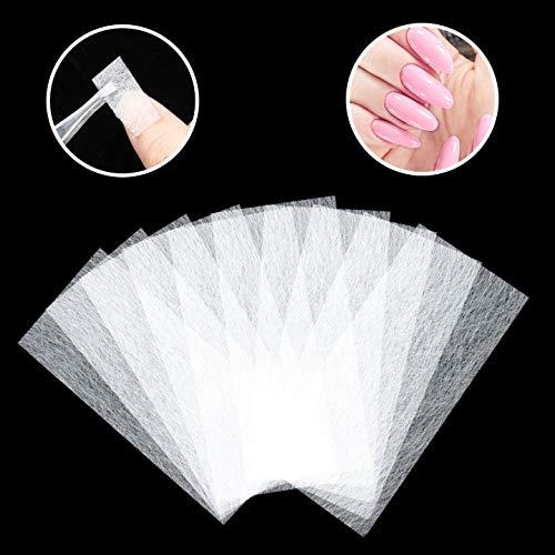 Diealles Shine 100 Stücke Silk Fiberglass Nail Extensions, Nail Care Fiberglass Silk Nagelverlängerung für die Fingernagelreparatur Nägelverlängerung Fiberglasmodellage