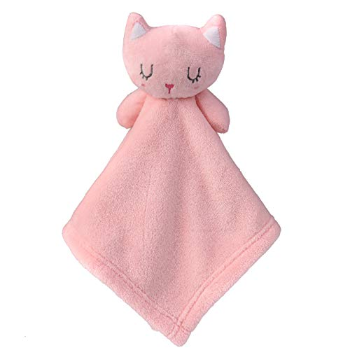 GTree Cat Security Blanket for Baby  Soft Plush Lovely Blanket for Boys and GirlsStuffed Animal Blanket