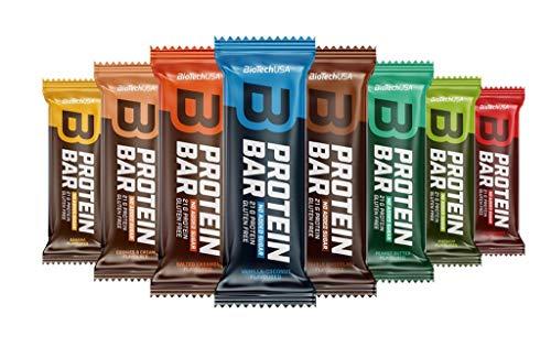 2 x Biotech USA Protein Bar, 16x70g Riegel , Erdbeere (2er Pack)