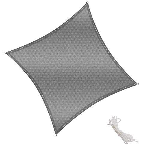 KingShade Quadrata HDPE Vela Parasole, Resistente agli Agenti Atmosferici, Protezione Raggi UV per Giardino, Balcone e Terrazza