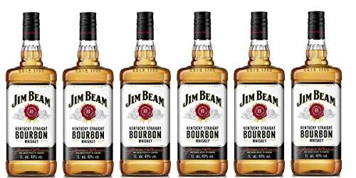 Jim Beam - Bourbon Whiskey - 6 x 1 Liter