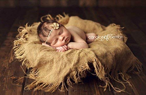 Burlap and Blanket Set  Photography Prop Newborn Baby Photo Prop and Chunky Blanket Pick Your Colors