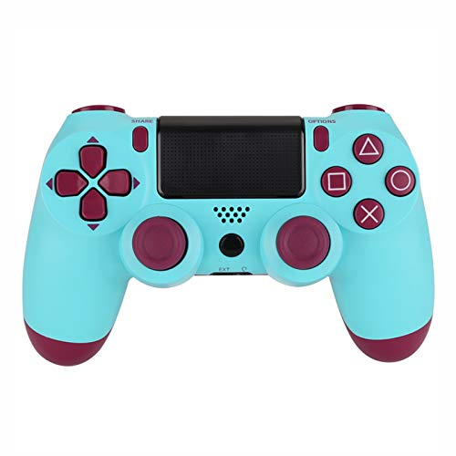 Xcmenl Wireless Controller für PS4 Slim/PS4 Pro,USB Controller für PC,Bluetooth Gamepad mit Dual-Vibration Audiofunktionen Playstation Controller Joystick - Fruchtblau