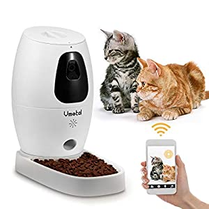 Vmotal Pet Camera with Automatic Cat Feeder for Cat and Dog, Full HD Video with Night Vision, 2-Way Audio,Sound/Motion Alerts,WiFi Monitor Pet Remotely with Phone App