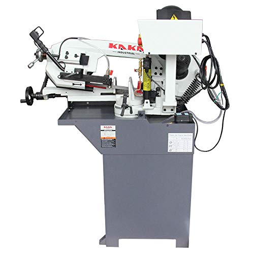 KAKA Industrial Metal Cutting Band Saw,Solid Design Metal Bandsaw, Horizontal Bandsaw, High Precision Metal Band Saw, Build-In Safety Settings, Space Saver Metal Cutting Band Saw (BS-76G)