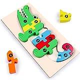 rolimate Puzzle in Legno Blocchi di Costruzione Puzzle in Legno per Animali, Apprendimento...