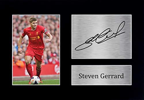 HWC Trading Steven Gerrard A4 Ungerahmt Signiert Gedruckt Autogramme Bild Druck-Fotoanzeige Geschenk Für Liverpool Fußball Fans