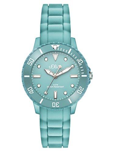 s.Oliver Time Unisex Quarz Uhr mit Silikon Armband, Größe XS für Kinder- bzw. Damen