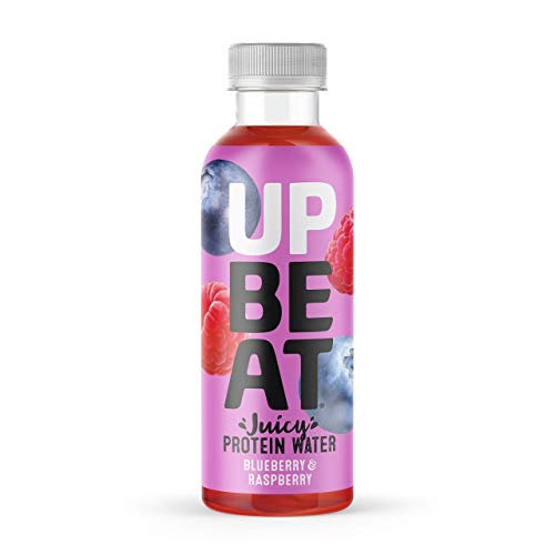 UPBEAT Juicy Protein Water 12x 500ml | High Protein, Zero Sugar, Energising B Vitamins | Blueberry & Raspberry