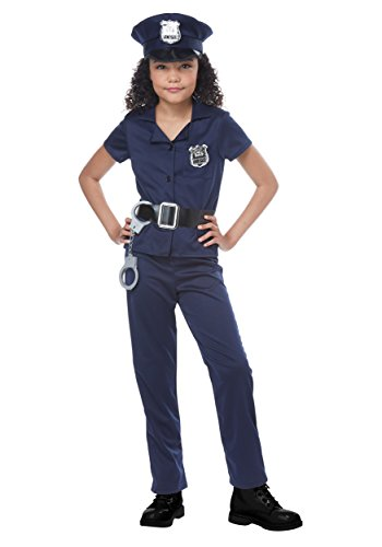 California Costumes Girls Cute Cop Child Costume, Navy, Large