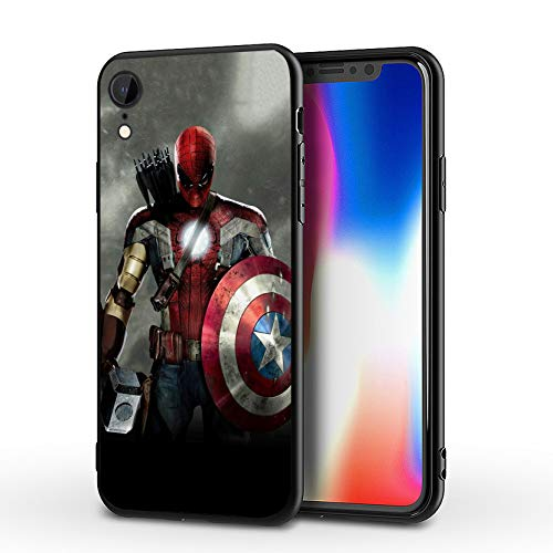 MHCOM iPhone XR Case Endgame Comic Design Cover Cases for iPhone XR 6.1' (Avengers-Mix)