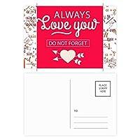 いつもあなたのバレンタインデー愛 公式ポストカードセットサンクスカード郵送側20個