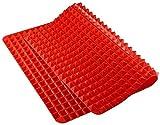 AOI Tapete de Silicona para Horno, diseño de pirámide Antiadherente, Reduce la cocción Saludable, Resistente al Calor, para Barbacoa de Parrilla, 39.5 * 27.5 * 0.9cm
