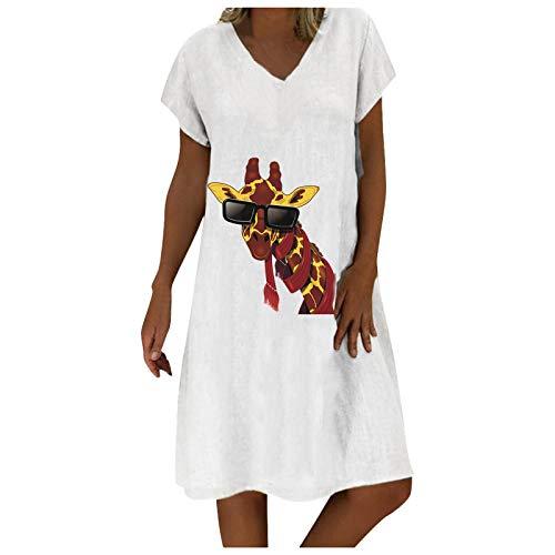 Damen Kleider Tshirt Kleid Winterkleid für Damen Rundhals Brautkleid Langarm Minikleid Kleid Langes Shirt Lose Tunika mit Bowknot Ärmeln