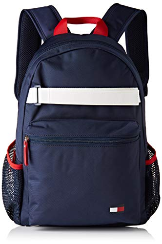 Tommy Hilfiger Unisex-Kinder Th Kids Flag Backpack Tasche, Schwarz (Black Iris), 12x41x30 centimeters