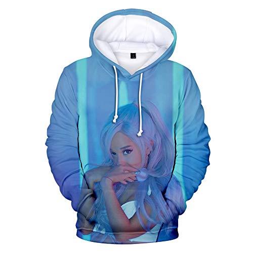 nuannuan Impression 3D Ariana Grande Sweat Filles Vêtements De Sport Haut Doux Pull À Capuche Doux Chanteur Filles Longue Dame Décontracté Lâche XXS-4XL