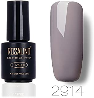 ROSALIND Gel Nail Polish Soak Off UV LED Esmalte Manicura Pedicura salón 7 ml (gris 3)