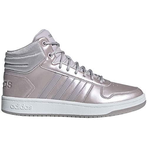 adidas Hoops 2.0 Mid, Zapatillas de Baloncesto Mujer, Malva/Malva/Ftwbla, 38 EU