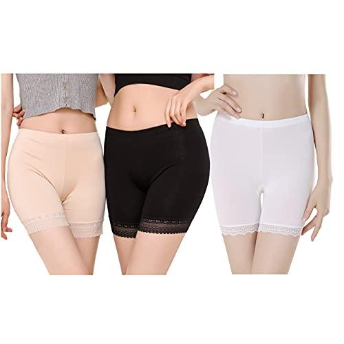 Magilona Mujer 3 pares de pantalones cortos modelo de ropa interior elástica #2L