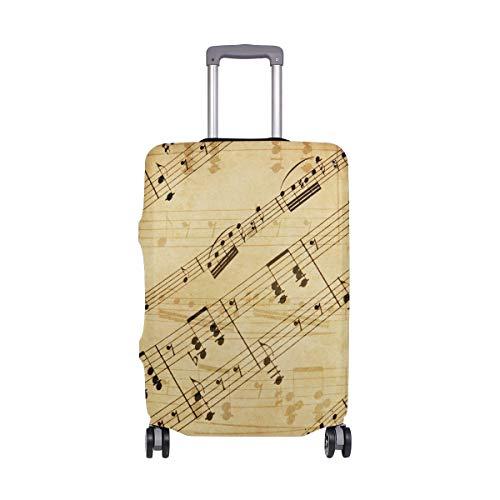Funda protectora para maleta de viaje, de elastano, estilo vintage, color marrón,...