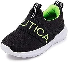 Nautica Kids Boys - Girls Fashion Sneaker Slip-On Athletic Running Shoe for Toddler and Little Kids-Mattoon-Black/Neon Green-11