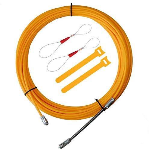 RUNCCI-YUN15M Kabel Einziehhilfe, Elektrische Draht Einfaedler Kabellauf Stangen Einziehbands Ziehen, Führungsfeder Öse Nylon Ø3.5mm Einziehdraht Kabel