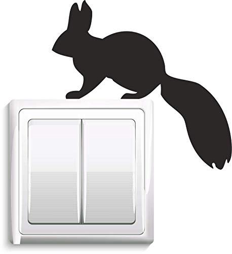 Stopcontacten/lichtschakelaar sticker eekhoorntje
