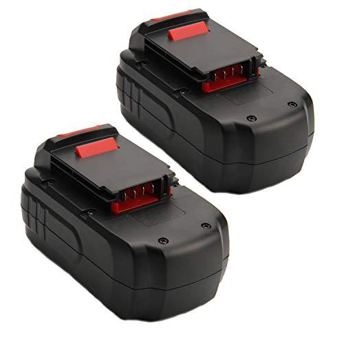 Creabest 2 Pack 3.5Ah Ni-MH for Porter Cable 18V PC18B Battery PCC489N PCMVC PCXMVC Cordless Tools