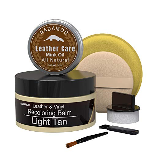 NADAMOO Leather Recoloring Balm with Mink Oil Leather Conditioner, Leather Repair Kits for Couches...
