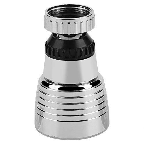 Hztyyier Eslabón Giratorio 360 ° 3 Colores Led Faucet Aireador rociador Sensor de Temperatura Parcial Luz LED aireador del Grifo para Fregadero de la Cocina Ducha de baño