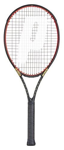 Prince TeXtreme2 Beast O3 - Raqueta de Tenis para Adulto, Unisex Adulto, Raqueta de competición., 7T45S8052, Negro y Rojo, Grip 2: 4 1/4 Inches