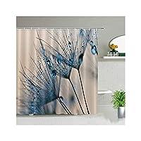 JBNWY シャワーカーテンフラワーホワイトプリント花植物創造的防水ファブリックバスルームの装飾フック付き (Color : 741J, Size : 90x180cm)