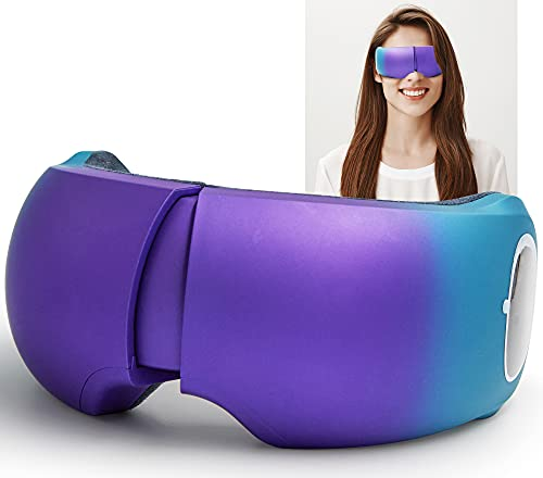 Masajeador ocular, gafas de masaje recargables inalámbricas, ideal para compresión de aire musicoterapia, masaje de ojos, alivia la fatiga, favorece la circulación sanguínea, mejora el sueño.