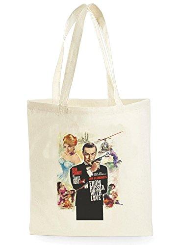 Uk Print King From Russia With Love Poster, Einkaufstasche fürs Einkaufen, Picknick, Zuhause, Lagerung und Schule, tote bag