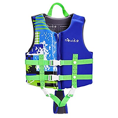 KUYOU Kids Swim Vest Life Jacket Boys Girls Youth Flotation Swimsuit Buoyancy Swimwear Swimming Aid Vest with Adjustable Safety Strap Age 1-12 Years/ 22-50 Lbs