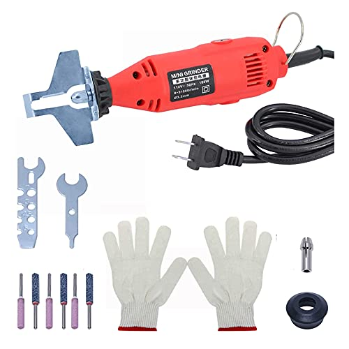 Gekufa Chainsaw Sharpener Electric Grinder Chain Saw Tool Attachment,110V Chainsaw Sharpener Kit with Bayonet Wrench,Grinding Bits
