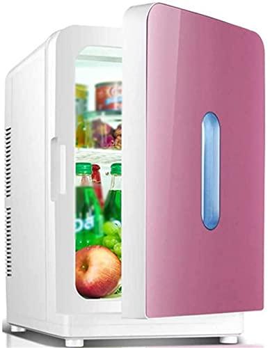 FDGSD Mini refrigerador portátil, refrigerador de Coche, Caja de enfriamiento de congelador de 20L, 12V 220V para Uso doméstico y de automóvil, calefacción de refrigeración de Doble Uso, A