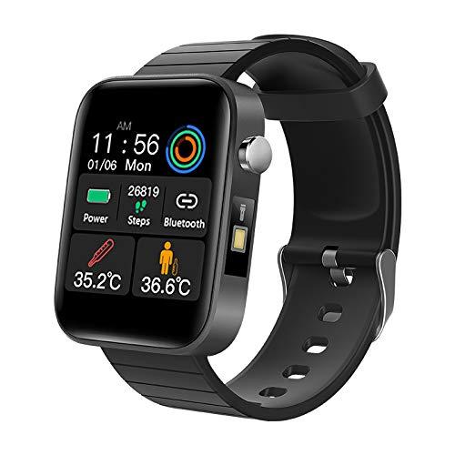 GAMERKING FitnessTracker Uomo Donna Smart Watch Misurazione della Temperatura corporeaSonno Cardiofrequenzimetro Monitor per la Pressione del Sangue Sportivo Activity Tracker Notifiche Messaggi(T68)