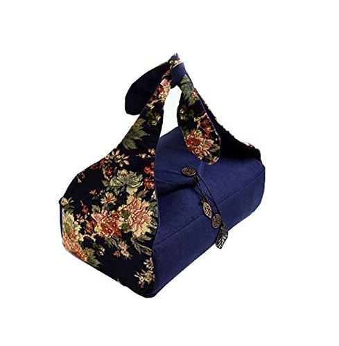 Black Temptation Sac en Coton et Lin(Style de Fleur Bleue)
