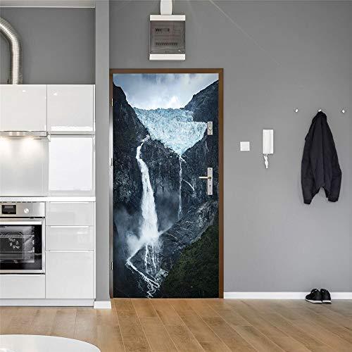 DFKJ Kreative Türaufkleber Hauptdekoration Aufkleber Aufkleber PVC Raumdekoration DIY wasserdichtes Wandbild A6 86x200cm
