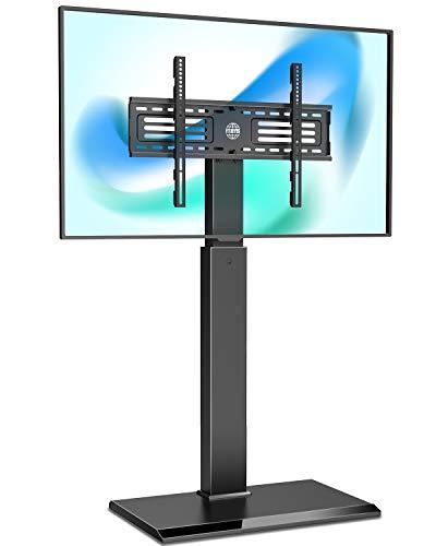 FITUEYES TV Bodenständer mit Eisenbasis TV Standfuß TV Ständer Fernsehstand höhenverstellbar schwenkbar für 32 bis 65 Zoll Flachbildschirm FT-S1602MB