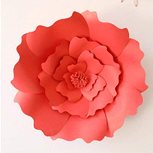 LIMMC MEIDDING 1 pz 30 cm / 40 cm Fiori di Carta Fai da Te Sfondo Fiori Artificiali Decorativi Bomboniere Decorazione per Feste di Compleanno, Rosso, 40 cm