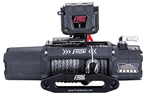 FROM ANT Series Electric Winch 12500lbs 6.0HP 12V Offroad Winch for ATV/UTV/Jeep with Synthetic Rope FA12.5S