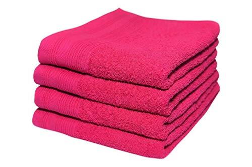 Toallas de mano para hotel y spa (50 x 90 cm, 100% algodón egipcio peinado, extra suaves, 600 g/m², 50 x 90 cm), color fucsia