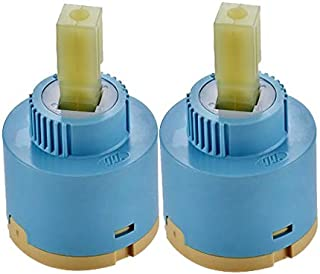 Wovier Replacement Single Handle Faucet Cartridge Ceramic Disc Valve 35mm Diameter (2 Pcs)
