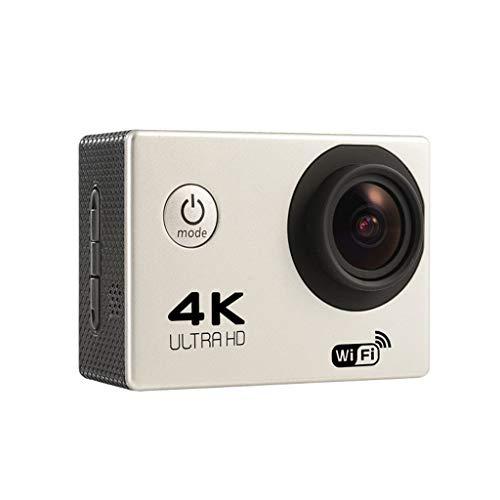 LALAWO 4K 20MP Action Kamera, Camcorder Webcam WiFi EIS Wasserdicht 30M Sport Für Vlog Unterwasserkamera Mit Fernbedienung,Weiß