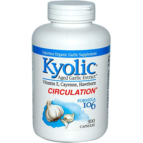 Kyolic Aged Garlic Extract Formula 106, Circulation, 300 Capsules
