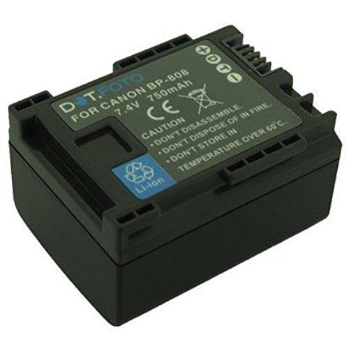 Canon BP-807, BP-808, BP-809 PREMIUM Dot.Foto Batería de Reemplazo - 7.4V/750mAh - Garantía de 2 años [Vea compatibilidad en la descripción]