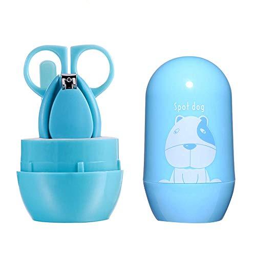 HLPIGF Kit de U?As para BebéS, Trajes de Cuidado de la Belleza, Juego de Manicura para BebéS, Kit de Aseo con Cortaú?As Lima de U?As para ReciéN Nacidos, BebéS, Ni?Os Peque?Os,Azul